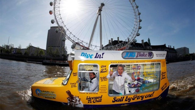 World's First Amphibious Ice Cream Van Will Melt Your Soggy Heart