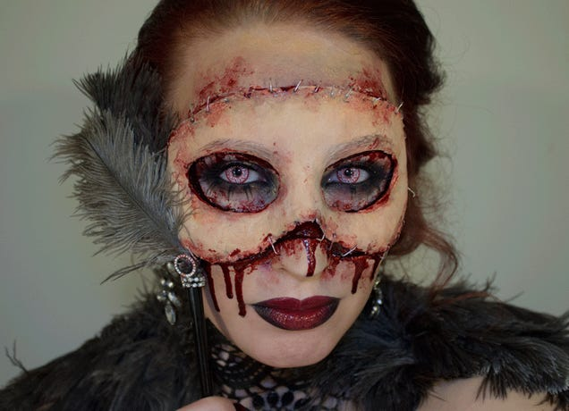 Attending a masquerade ball? Consider wearing your own face!