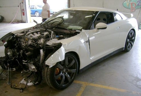 Godzilla Smash! Another Totaled Nissan GT-R