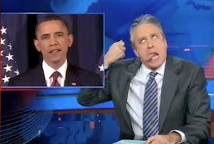 Jon Stewart Criticizes President Obama's Libya Strategy