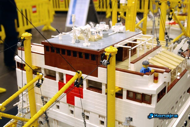 It took almost 100,000 pieces to build this 10-foot Lego hospital ship
