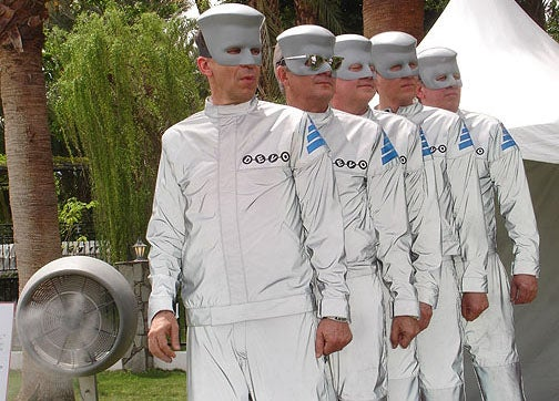 Devo's new album is a geek dystopia party with robot hats