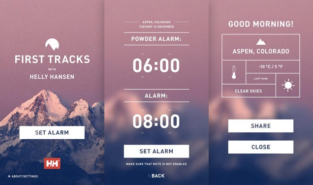 An Alarm Clock App That Wakes Skiers Earlier For Freshly Fallen Snow