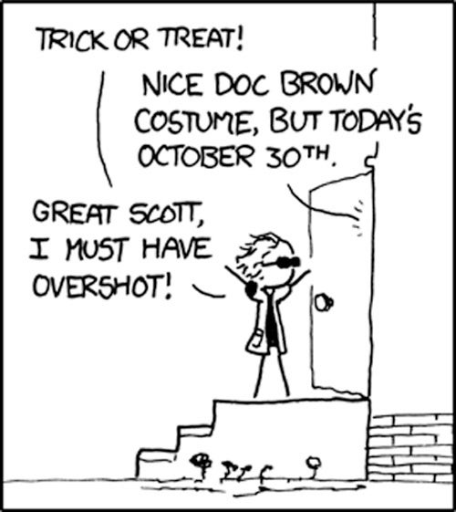 Next Year, I'm Time Travel Trick or Treating
