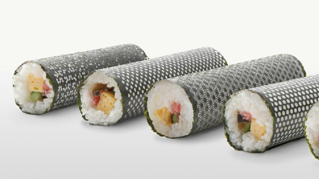 Laser-Cut Nori Rolls For a Designer Sushi Dinner