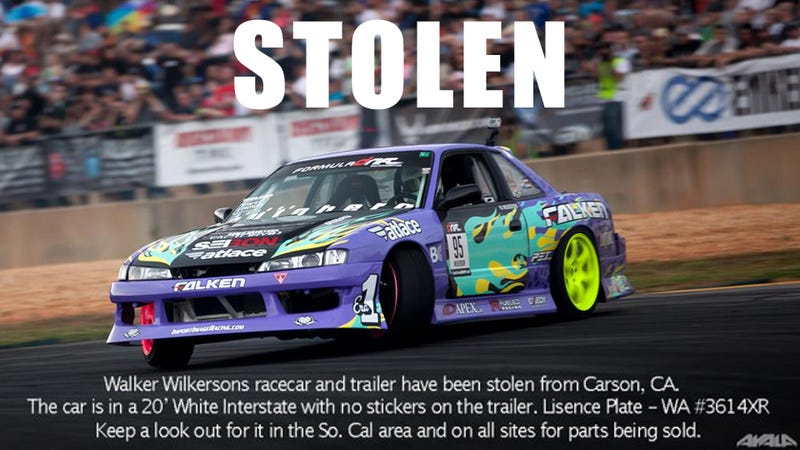 Formula D Drifter's Car Stolen Just Before Christmas