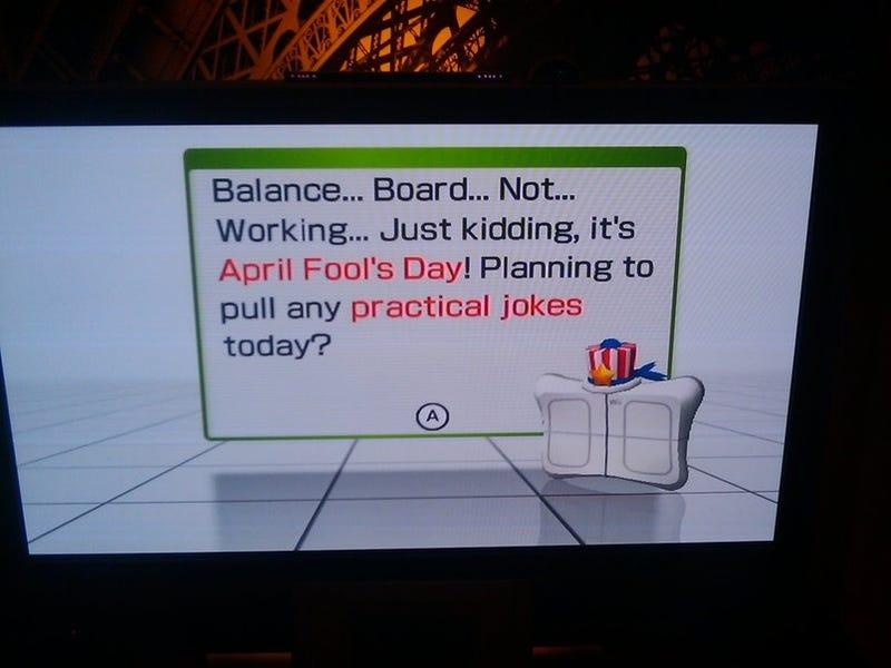 Wii Fit Says April Fools