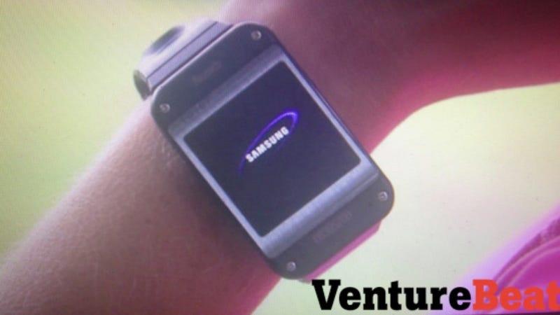 Este es un prototipo inicial del reloj Samsung Galaxy Gear