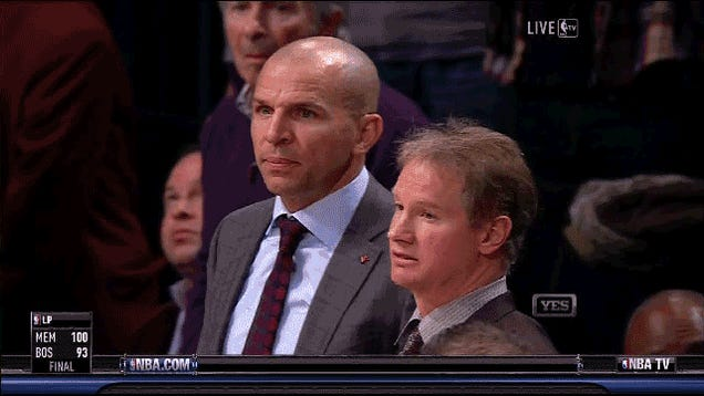 Jason Kidd Earned The Nets An Extra Time Out By Dropping His Soda