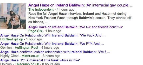 Angel Haze and Ireland Baldwin Are Dating, Alright?