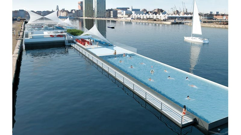 Olympic-Sized Pool Boat Is an Instant Tourist Attraction—Just Add Water