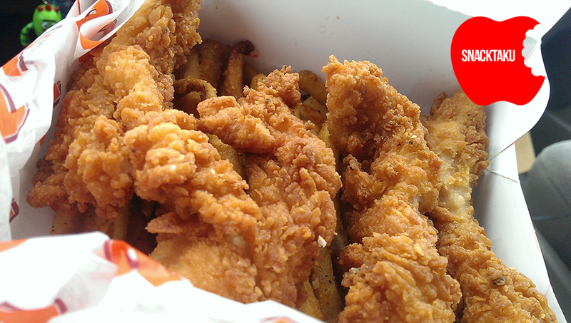 Popeyes Chicken Waffle Tenders: The Snacktaku Review