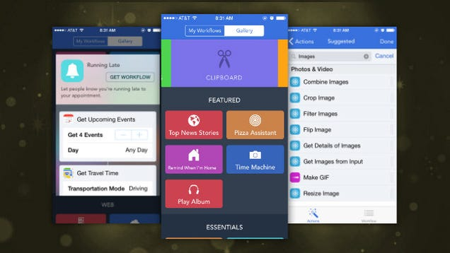 Workflow Adds More Actions, a New Gallery, and More