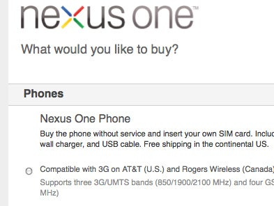 3G-Ready Nexus One Now Available Unlocked on AT&T