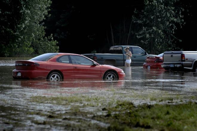 Michigan Fairground Floods, Waterlogging Hundred Of Cars