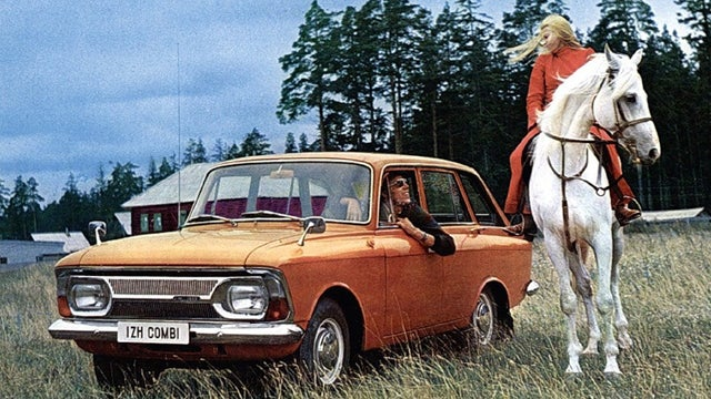 Vintage Russian automotive promotional pictures are weird and wonderful