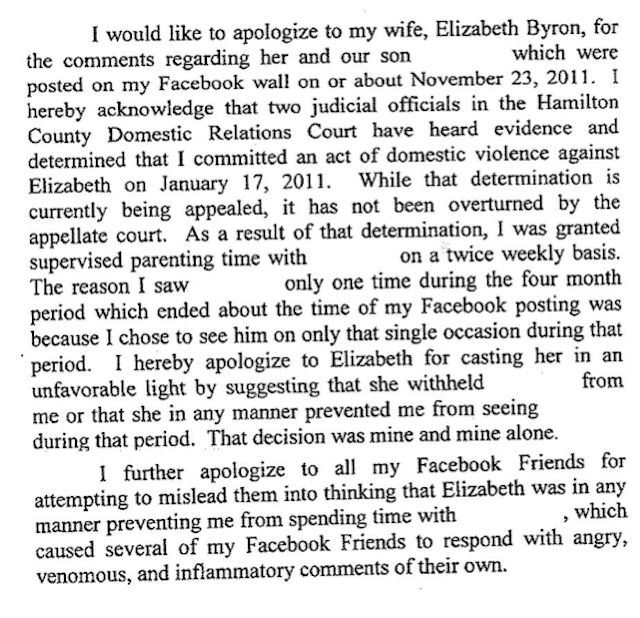 Judge Forces Abusive Asshole to Apologize to Wife on Facebook