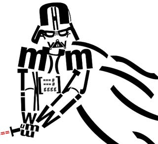 Darth Vader Is Less Intimidating In Typeface