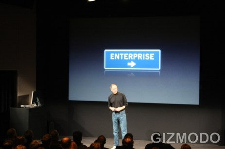 Apple Hops Aboard Enterprise: Push Email and Calendars, Activesync and Exchange Support