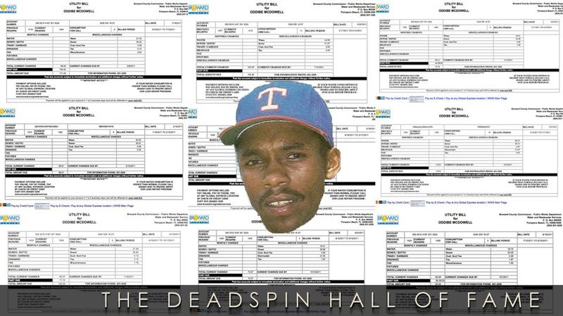 2012 Deadspin Hall Of Fame Nominee: Oddibe McDowell's Water Bill