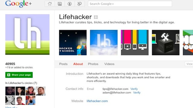 Add Lifehacker to Your Circles on Google+ for Tips, Tricks, and Great Conversation