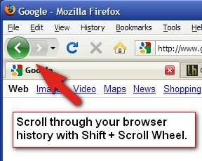 Use the Scroll Wheel to Zip Through Your Browser History