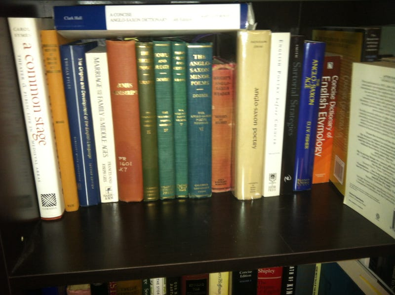 A Look at the Bookshelves of a Literary Scholar