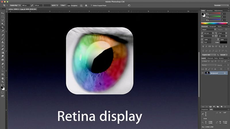 Adobe Photoshop and Illustrator Now Available With Retina Display Support