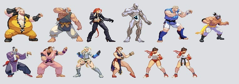 Street Fighter IV With Old School Sprites