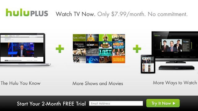 Try Hulu Plus Free for 2 Months