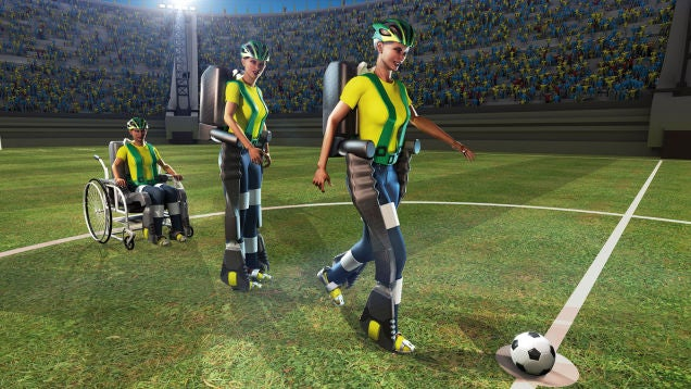 Watch a Mind-Controlled Cyborg Leg Make the World Cup's First Kick