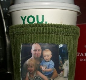 DIY Photo Frame Coffee Sleeve