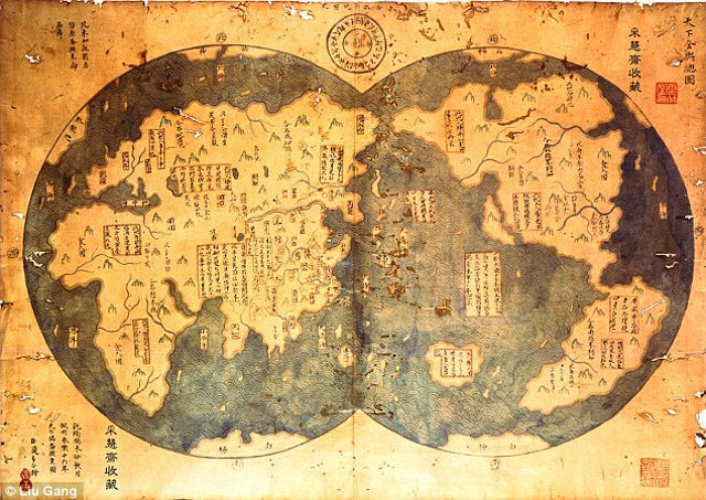 Does this map prove that China discovered America before Columbus?