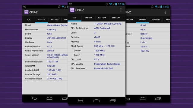 CPU-Z Tells You Everything About Your Phone's CPU, Battery, and More
