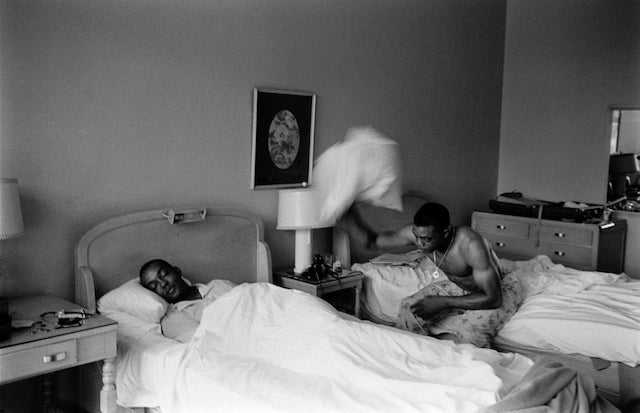 Cool Old Photos Show Willie Mays As You've Never Seen Him, I.E. Starting A Pillow Fight