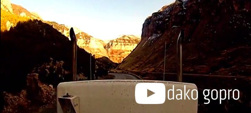 Wide-Angle Ride Alongs On Semi-Trucks: dako gopro On YouTube