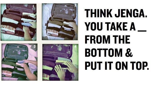 Pack Your Suitcase Perfectly By Seeing It Like a Game of Tetris or Jenga