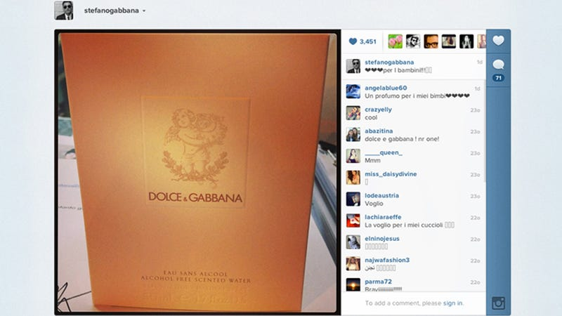 Finally: Dolce & Gabbana Releases Baby Perfume for Your Putrid Infant