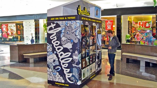 Threadless Testing Vending Machines For Those Who Still Don't Shop Online
