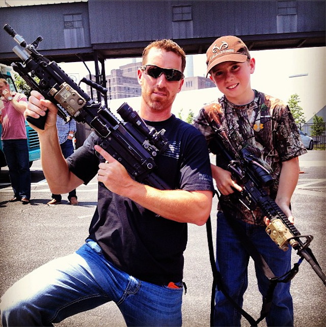 Adam LaRoche And His Son Would Like To Show You Their Very Large Guns