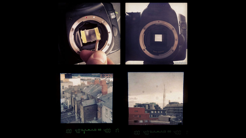 How to Turn Your DSLR Into an Instagram DSLR Using Some Tape