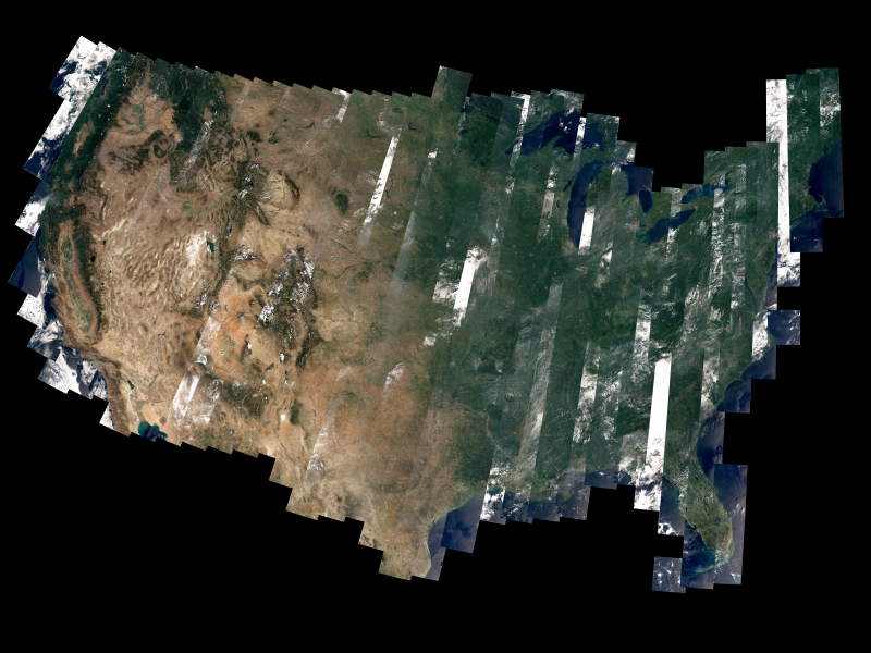 How a satellite actually creates images of the Earth
