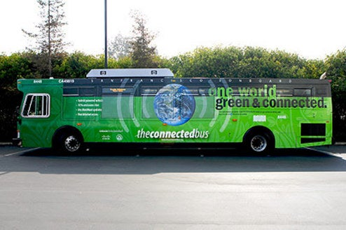 SF Gets Public Transit Hybrid Bus With Wi-Fi, Other Goods