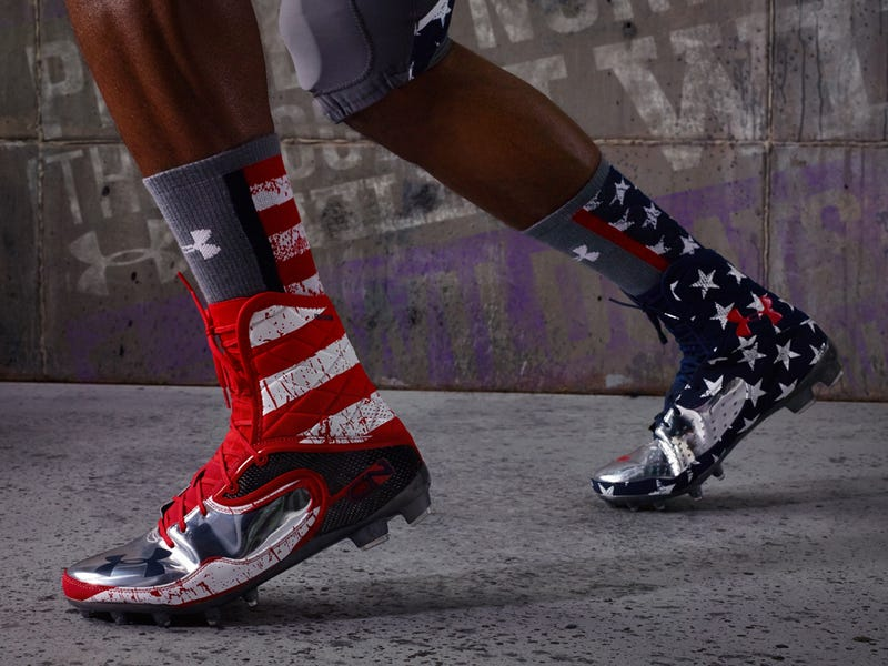 """Northwestern's Very Literal """"Wounded Warrior"""" Unis Have Blood Spatters"""