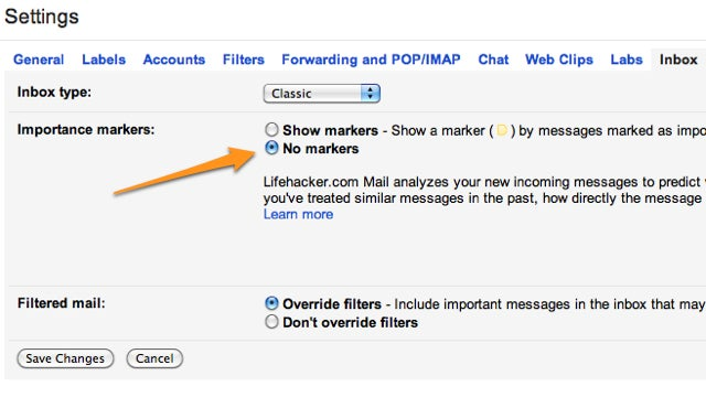 Turn Off Importance Markers in Gmail if You're Not Using Priority Inbox