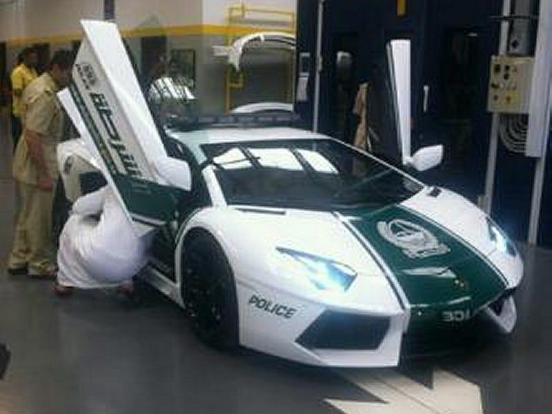 There's A Lamborghini Aventador Police Car In Dubai