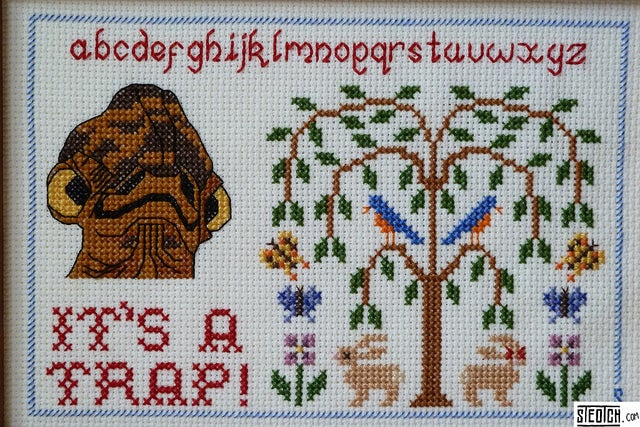 Slave Leia adds flair to your cross-stitch samplers