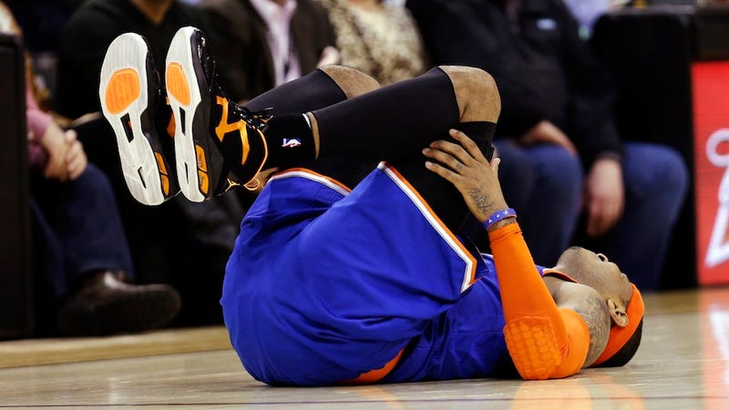 Mike Woodson Says Carmelo Anthony Asked Out Of The Game Before Injuring His Knee