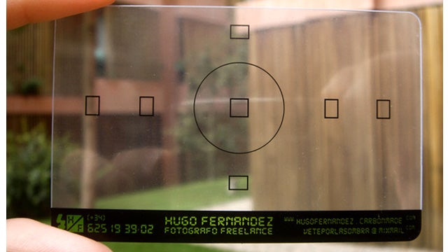 And of Course This Viewfinder Business Card Belongs to a Photographer