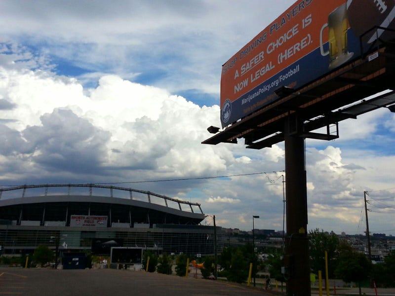 Pro-Pot Billboard Erected Outside Mile High Stadium
